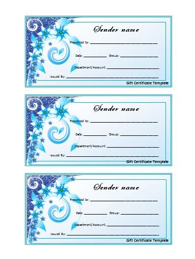 templates for gift certificates free downloads blank templates of gift certificates