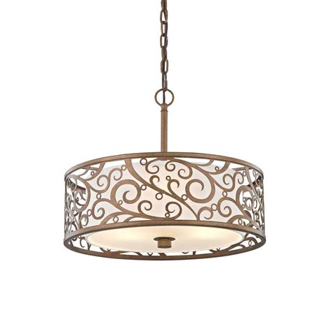 Gold Light Pendant Fifth And Lighting 3 Light Burnished Gold Pendant With Light Beige Fabric Shade Hd 1073