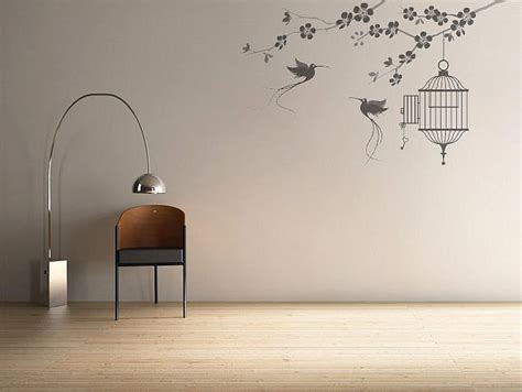 wall sticker pictures wall stickers birds and cage interior design ideas