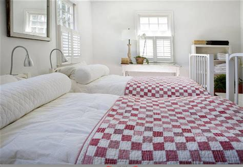 bedrooms with quilts cococozy a little red goes a long way in home decor