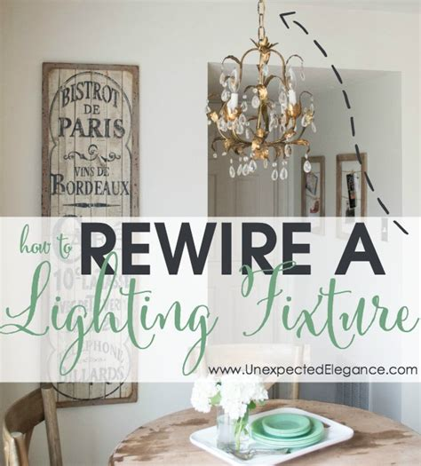 how to rewire a rewire a lighting fixture update wiring for thrifted