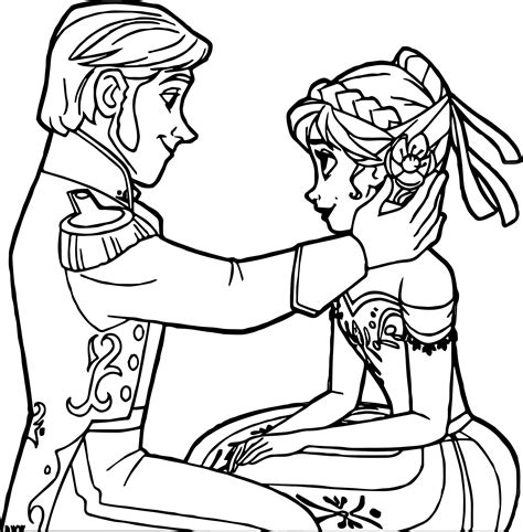 frozen coloring pages anna punches hans frozen hans anna coloring page wecoloringpage