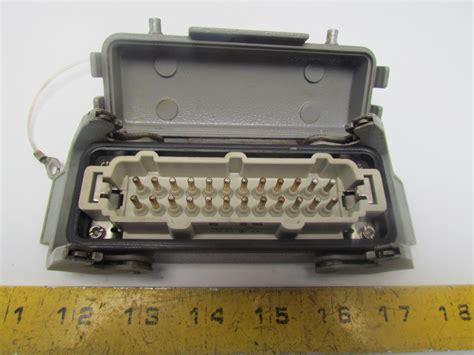 harting hen 24 e h 24 pin connector w juction box blank