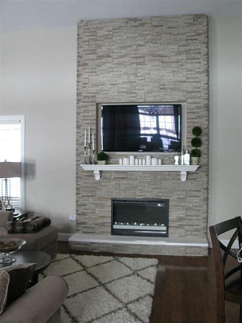 chimenea frame diy quot fireplace quot stones over wood frame electric inset