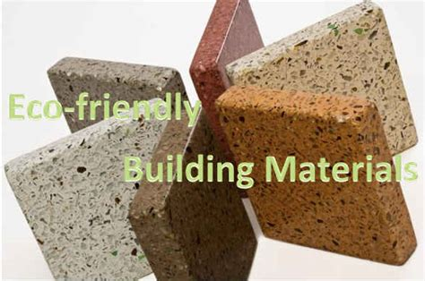eco friendly building materials for your house