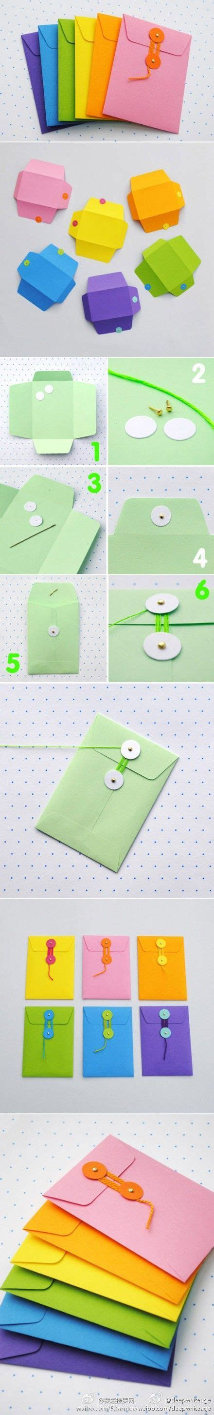 How To Make String On Paper - how to make string tie envelopes to use as paper pockets