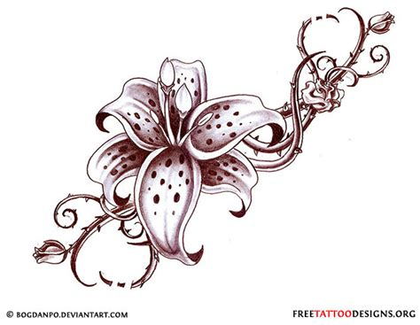dark flower tattoo designs flower gallery 70 flower designs