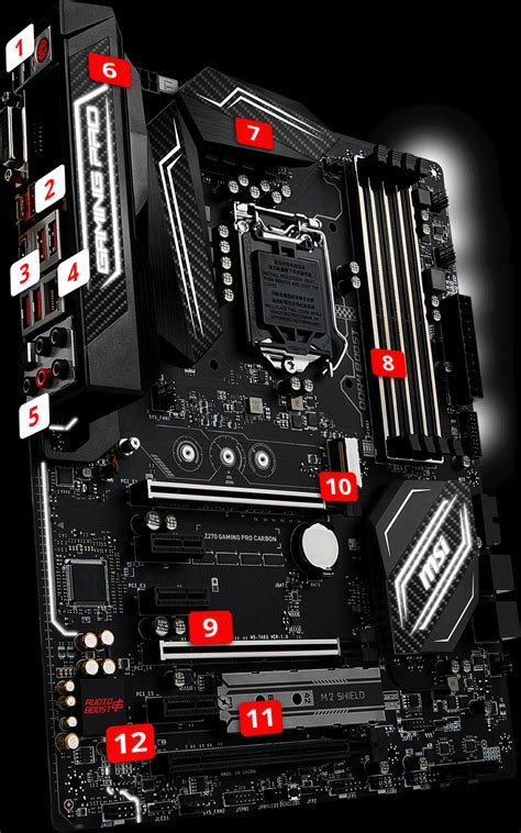 Msi Z270 Gaming Pro Carbon overview for z270 gaming pro carbon motherboard the