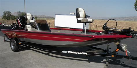 used bass boats for sale ca 2007 used crestliner cx19 bass boat for sale 11 700