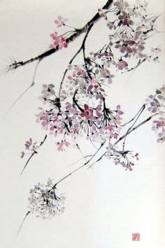 tattoo rice paper magnolia and sparrow suibokuga japanese ink painting sumi