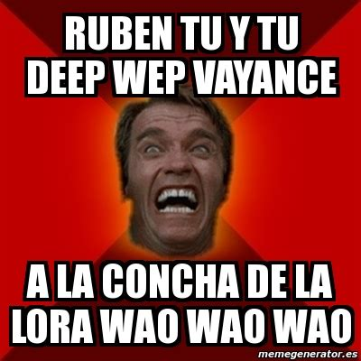 Wao Meme - meme arnold ruben tu y tu deep wep vayance a la concha