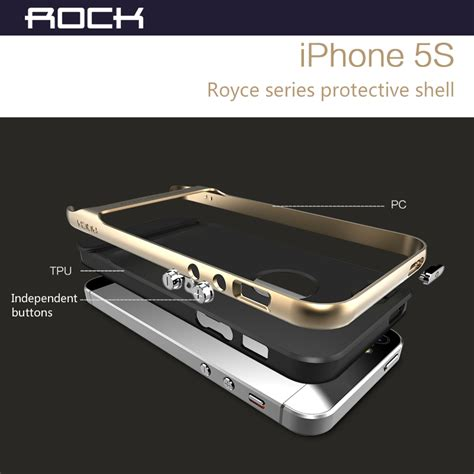 Rock Leather Side Flip Phone Bag With Card Slots F Promo 2 rock original phone for iphone 5 5s royce series