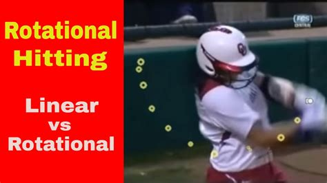 rotational swing rotational hitting softball linear vs rotational swing