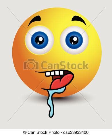 hungry drooling emoji face vector. hungry emoji smiley