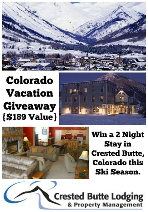 Getaway Giveaway - crested butte vacation giveaway work money fun