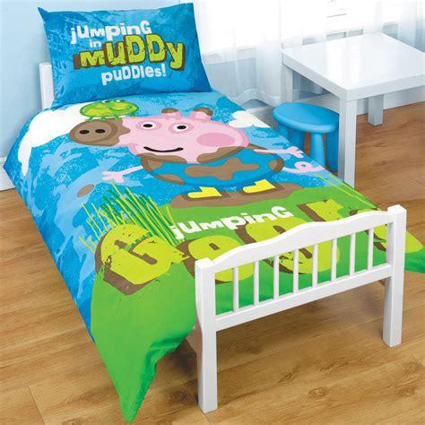 Peppa Pig Cot Bed Duvet Set Peppa Pig George Junior Cot Bed Duvet Bundle 4 In 1 Ebay