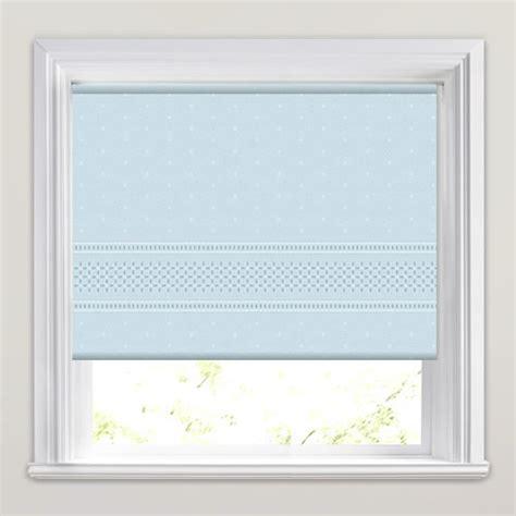 blue patterned roller blind classical border patterned roller blinds in powder blue