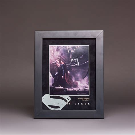 Henry Cuirs Eucalyptus Frame Bags by Of Steel Signed Photo Display Henry Cavill Kudos