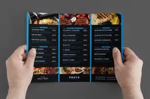 trifold menu template trifold restaurant menu template brandpacks