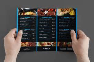 tri fold restaurant menu templates trifold restaurant menu template brandpacks