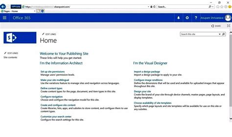 how to publish a custom web design on sharepoint online office 365