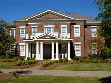 Home Trends Design Colonial Plantation by Beautiful Brick Homes Outdoor Design Landscaping Ideas