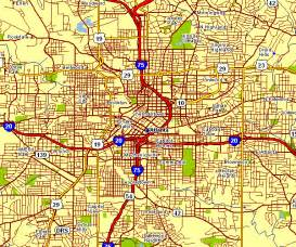 Atlanta Street Map by City Map Of Atlanta