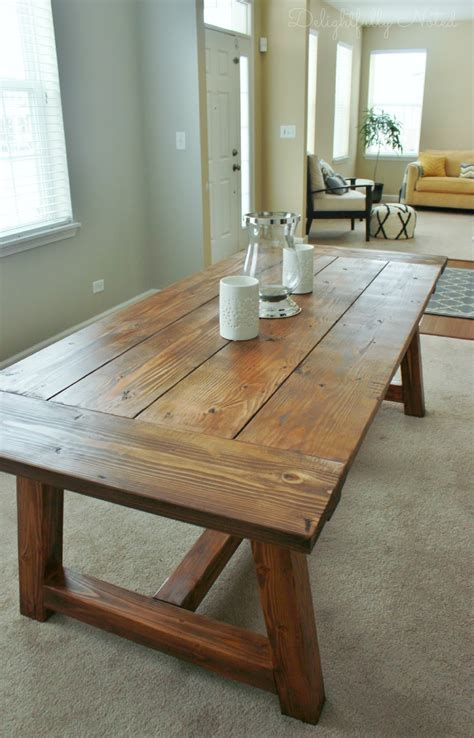 holy cannoli  built  farmhouse dining room table delightfully noted
