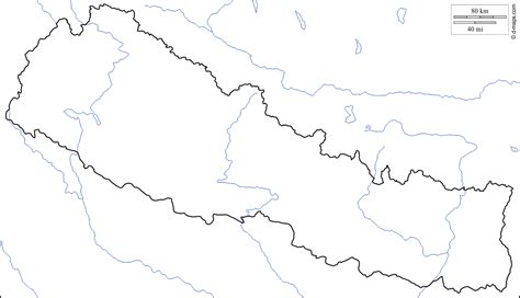 nepal map coloring page geography blog
