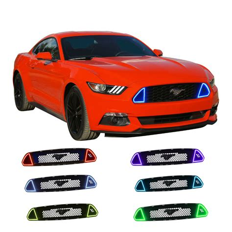 2018 mustang fog ford mustang gt colorfuse drl color change grille led