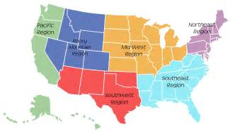 map of united states with regions the 50 states aprendemos academy