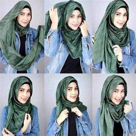 tutorial hijab pashmina simple untuk kebaya 35 cara memakai jilbab pashmina simple kreasi terbaru 2017