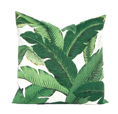 Palm Leaf Pillow by Outdoor Pillow Cover Bahama Swaying Palms Banana
