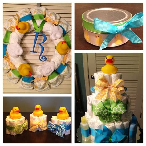 rubber ducky baby shower decorations gift package
