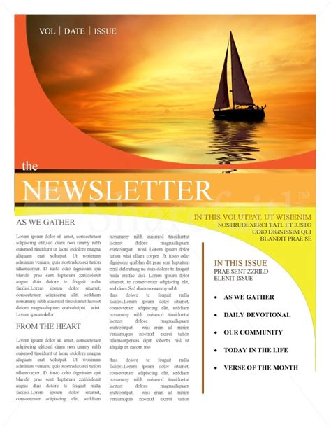 church magazine template church newsletter templates template newsletter templates
