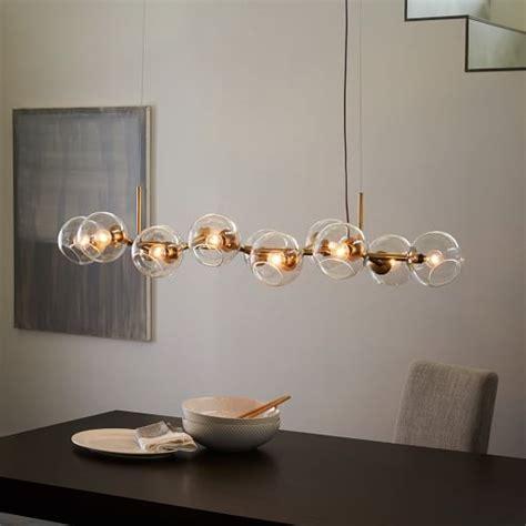 glass chandelier staggered glass chandelier 12 light west elm