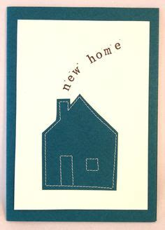 Handmade New Home Card Ideas - handmade stitched personalised new home card by