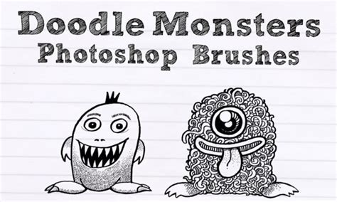 how to doodle in photoshop ucreative doodle monsters photoshop brushes