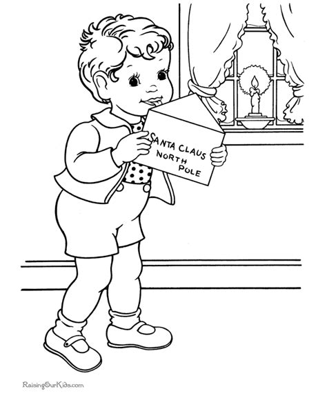 santa claus coloring page pdf christmas coloring pages for kids a letter for santa