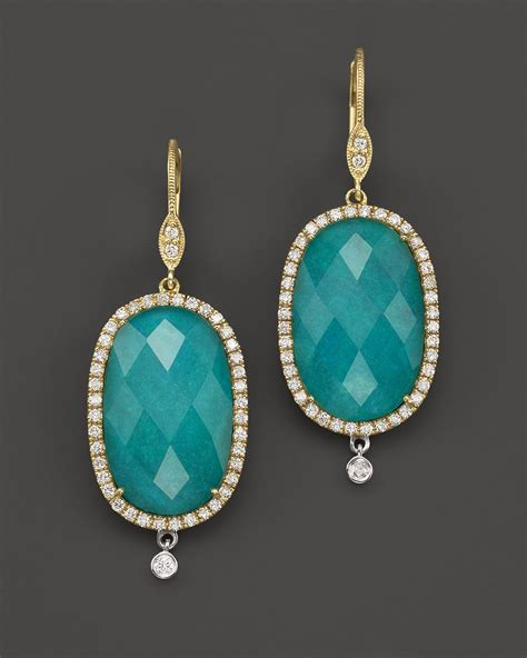 meira t 14k yellow gold turquoise and white topaz doublet