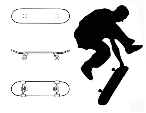 skateboard template skateboard template www pixshark images galleries
