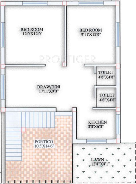 2bhk plan for 500 sq ft 600 sq ft 2 bhk 2t villa for sale in purusottam villa