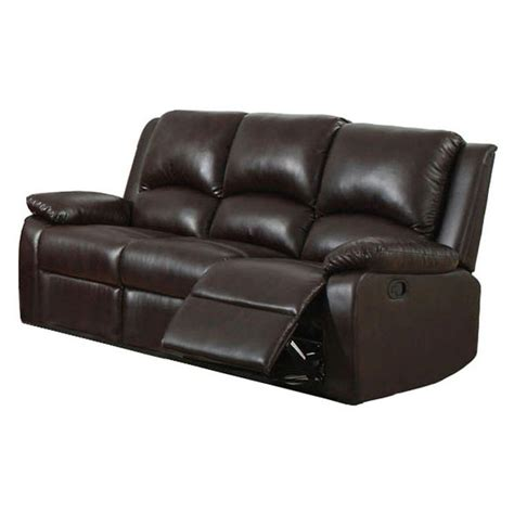 furniture of america sofa furniture of america oxford rustic dark brown faux leather