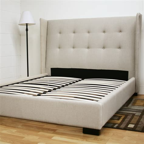 diy platform bed with upholstered headboard
