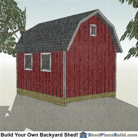 Barn Style Shed Plans 12x16 by 12x16 Gambrel Shed Plans Small Barn Shed