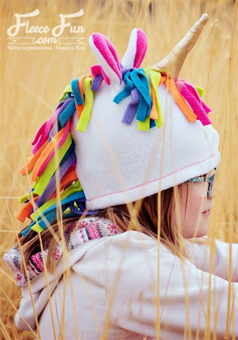 unicorn pattern costume quest tutorial and pattern fleece unicorn hat sewing