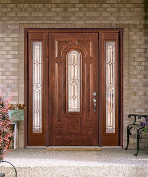 Fiberglass Entry Doors by Feather River Door Fiberglass Entry Doors Mahogany Door