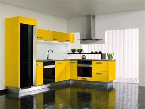 cabinets for kitchen yellow kitchen cabinets design black and yellow color schemes for modern kitchen decor