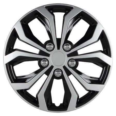 14 inch hubcaps spyder performance black silver wheel