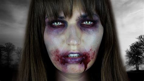 tutorial on zombie makeup the walking dead zombie halloween tutorial youtube